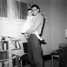 Tom with birthday girl Shannon, March 1961