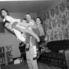 We hope these fun times didn't contribute to Tom's later back pains (spring 1961, Cambridge, MN)