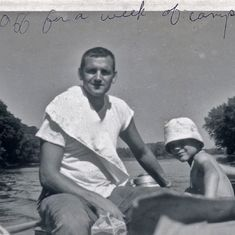 Tom brought his family camping on the St Croix, summer 1962