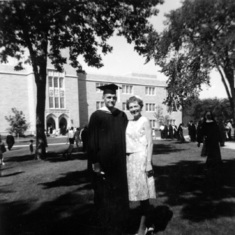 New MA graduate with Rena, June 1964,