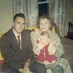 Tom and Rena with Patty Rose, September 1964
