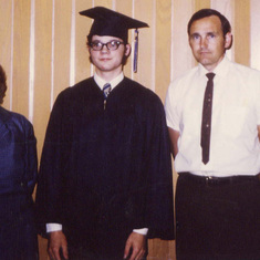 Tom and his mother Isabelle with HS graduate Mark, June 1971