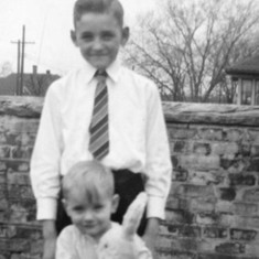 Tommie with brother Mike, Easter 1942