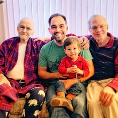 Four Generations (Son Mark, Grandson Tom, Great-Grandson Gideon)