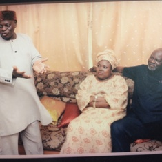 Baba, standing as a father during Kemi's wedding introduction