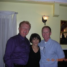 Todd with Janice and Donald at a Get Together for Recent NWA Retired Flight Attendants