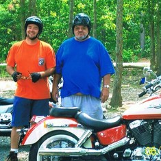 One of Todd's favorite hobbies was to ride his motorcycle. It made him so proud to be able to ride with his father
