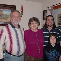 Todd's cousin David, his Mema, Todd and Matthew