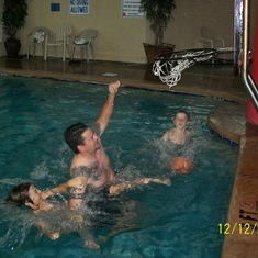 It is hard to believe this was just 12/09. Todd, Matthew, & Branson L. playing Bball in the pool. They had so much fun!