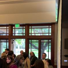 Video taken at reception on February 5, 2019 at Saint Gregory the Great church in Scripps Ranch.