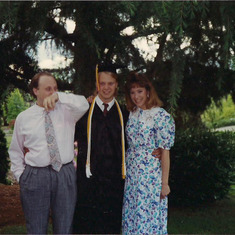 Tom Shafer - with Michael and Sondra- Michaels Graduation