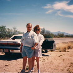 Tom Shafer - with Leah in Arizona