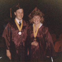 Tom and Leah Graduation 1985