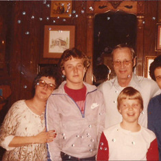 Tom with his Uncle Jim, Aunt JoAnn, and cousin Robert