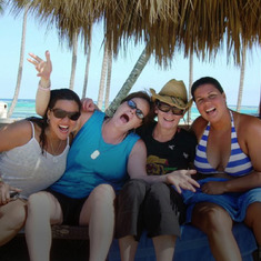 Tracy hanging with some friends on Olivia trip to Puerto Rico in 2011