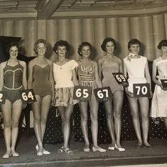 Beauty Pageant.  Val is on the far left!
