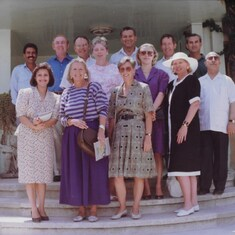 Amman, Jordan; June 1992 at the Haddad's home. Val is center front.