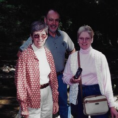 Val with Gail & Don Dubay at Biltmore Estates in Asheville, NC; April 1997.