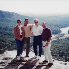 Val & Mike with Gail & Don Dubay at Chimney Rock State Park, NC. April, 1997.