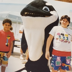 Seaworld with boys