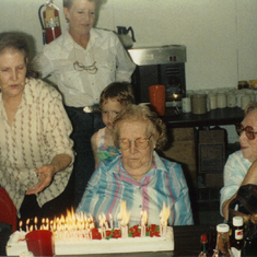 Granny's birthday.  Not sure which year, she was 80 something.