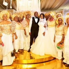 ALL President Aunty Vickie at ALL member Olufunke Ogeah's daughter's wedding with other ALL members on 1st February 2020.