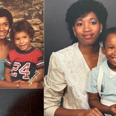 Left: Violet & Booker (Son), Right: Danita (Daughter) & Darius (grandson) - Booker & Darius were same age - 4 years old on these pics.  Definitely my Mom's genes