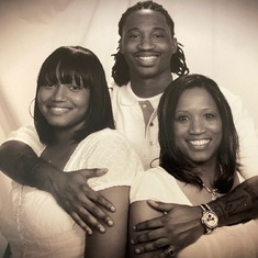 Left to Right: Sonja Mitchell (granddaughter) Darius Mitchell (grandson) Danita Mitchell (daughter)
