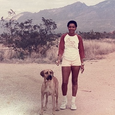 Violet in Arizona, her tennis and health and fitness days