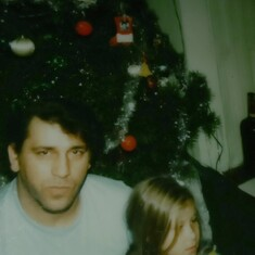 My Dad and I at Christmas time
