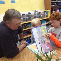 2014 - Grandparents' Day @ High Meadows School with grandsons