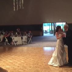 Daddy Daughter dance at my wedding, it was simply the best dancing with daddy—I loved the twirls!❤️