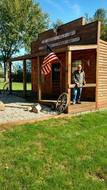 Waynes man cave, Black Wolf Trading Post, built for him by daughter Valerie with Love 2016, 89 yrs old