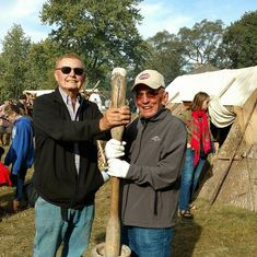 Brother Daniel F Cooper and Wayne FEAST OF THE HUNTERS MOON 2017, 90 yrs old