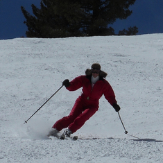 probably the best skiing action shot of wendy. nice form.