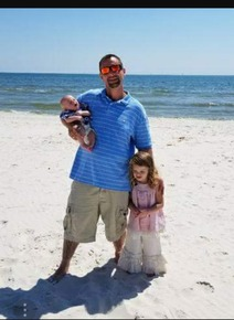 Daddy and his babies on vacation in Gulf Shores