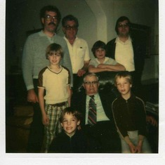 Front: Jason, Ervin Hamilton (Bill's Grandfather), Justin; Middle: Spencer Hamilton (Nephew), Brent Shears (Nephew); Back: Bill, Floyd Hamilton (Father), Richard Hamilton (Brother)
