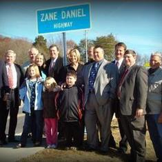 Dedication of the Zane Daniel Highway - Emory Road in the Halls Community -  2010