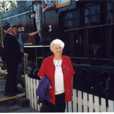 Sep 2003  About to board a restored tourist train