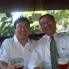 Winston and I drink beer together at downtown UCD in  2010