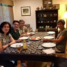 Dinner with Mike Lee and Fei at Richard and Pat's house, June 2018.
