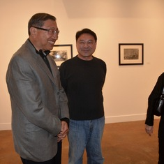 At the opening reception of my photo exhibition at the Shimo Gallery in Sacramento (Feb. 2016)