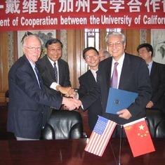 In 2008, Dean Ko and Chancellor Vanderhoef went to Peking University, China.