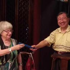 "Passing of ""MPS baton"" to Alex in Nanjing"