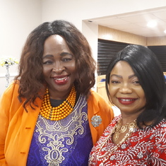 With aunty at Biodun Paseda's event