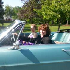 Jim loved that Zander was up for a prom pic in his convertible.